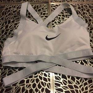 NWOT White Nike with straps crossing!